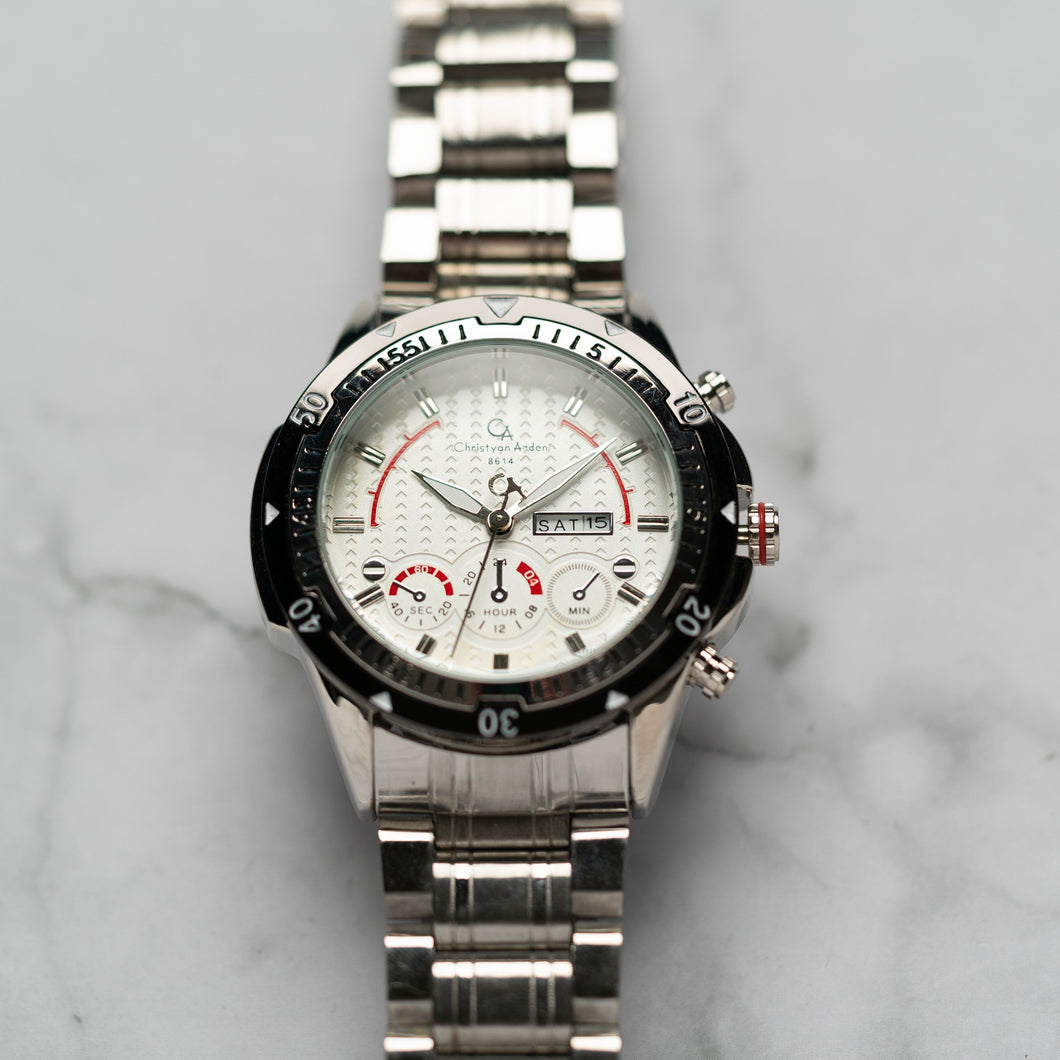 Christyan Arden DAYDATE EDITION CA8614 GTH - White Dial (46mm)