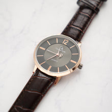 Muat gambar ke penampil Galeri, Christyan Arden Full Grain Leather CA0013 Brown - Black Dial (Pria)