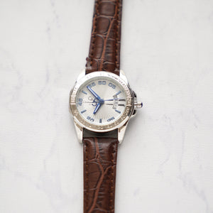 Christyan Arden Full Grain Leather CA2219 Brown - White Dial (wanita)
