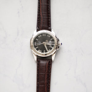 Christyan Arden Full Grain Leather CA2219 Brown - Black Dial (wanita)