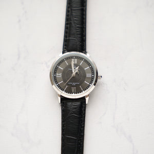 Christyan Arden Full Grain Leather CA4124 Black - Black Dial (Wanita)