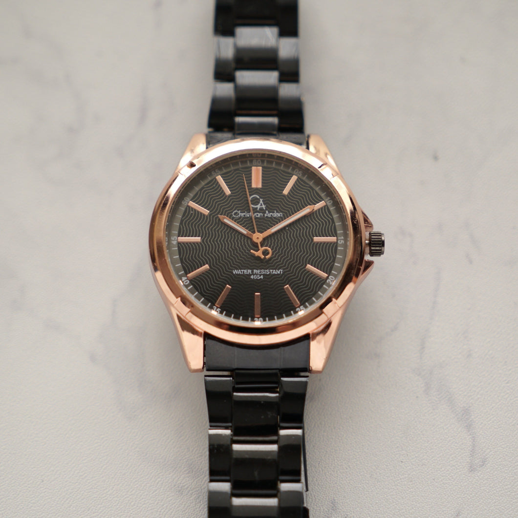 Christyan Arden Luxury Watch CA4054 Black Dial (Pria)