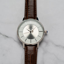 Load image into Gallery viewer, Christyan Arden ANTHEA CA-0008H - Around The World Edition - White Dial - Brown Full Grain Strap (Pria)