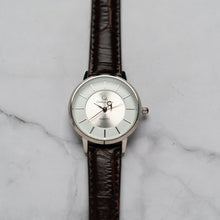 Load image into Gallery viewer, Christyan Arden ANTHEA CA-0008H - Around The World Edition - White Dial - Brown Full Grain Strap (Wanita)