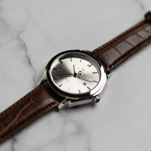 Christyan Arden ICARUS CA-001 - Around The World Edition - Silver Sunburst Dial - Brown Full Grain Strap (Pria)