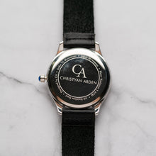 Load image into Gallery viewer, New Christyan Arden AALI CA3109 - Around The World Edition - Silver SunBurst Dial - Black Strap (Pria)