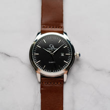 Load image into Gallery viewer, New Christyan Arden FINN CA3102 - Around The World Edition - Black Dial - Brown Full Grain Strap (Pria)