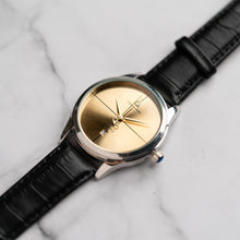 Muat gambar ke penampil Galeri, Christyan Arden ARES CA3110 - Around The World Edition - Gold SunBurst Dial - Black Strap (Pria)