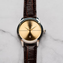 Load image into Gallery viewer, New Christyan Arden ARES CA3110 - Around The World Edition - Gold SunBurst Dial - Brown Strap (Pria)