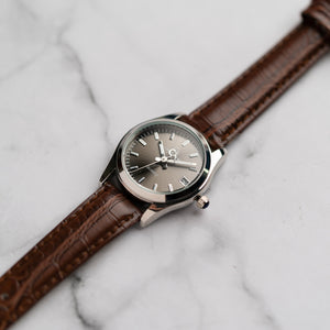 Christyan Arden ARISTOTLE CA-0006 - Around The World Edition - Grey Sunburst Dial - Brown Strap (Wanita)