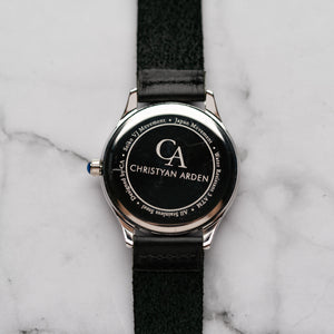 New Christyan Arden ARISTOTLE CA-0006 - Around The World Edition - Grey Sunburst Dial - Black Strap (Pria)