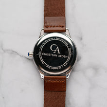 Load image into Gallery viewer, New Christyan Arden ARISTOTLE CA-0006 - Around The World Edition - Grey Sunburst Dial - Brown Strap (Pria)