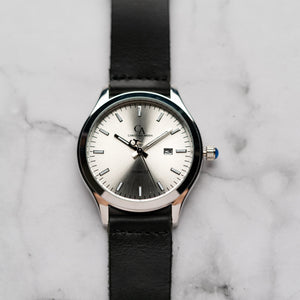 New Christyan Arden ARISTOTLE CA-0006 - Around The World Edition - Silver Sunburst Dial - Black Strap (Pria)