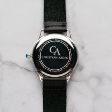 Load image into Gallery viewer, New Christyan Arden ARISTOTLE CA-0006 - Around The World Edition - Silver Sunburst Dial - Black Strap (Pria)