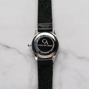 New Christyan Arden ARISTOTLE CA-0006 - Around The World Edition - Grey Sunburst Dial - Black Strap (Wanita)