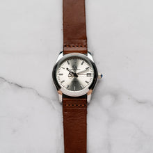 Load image into Gallery viewer, New Christyan Arden ARISTOTLE CA-0006 - Around The World Edition - Silver Sunburst Dial - Brown Strap (Wanita)