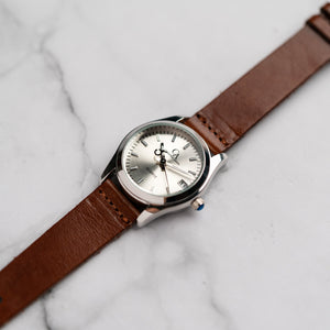 New Christyan Arden ARISTOTLE CA-0006 - Around The World Edition - Silver Sunburst Dial - Brown Strap (Wanita)