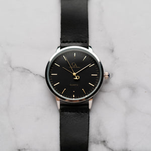 New Christyan Arden OTHELLO CA3208 - Around The World Edition - Black Dial - Black Full Grain Strap (Pria)