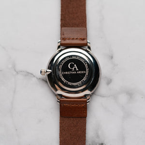 New Christyan Arden OTHELLO CA3208 - Around The World Edition - Black Dial - Brown Full Grain Strap (Pria)