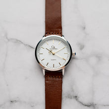 Load image into Gallery viewer, New Christyan Arden OTHELLO CA3208 - Around The World Edition - White Dial - Brown Full Grain Strap (Wanita)