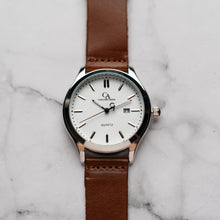 Muat gambar ke penampil Galeri, New Christyan Arden NEO CA-0001 - Around The World Edition - White Dial - Brown Strap (Pria)