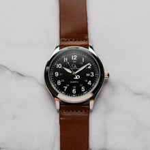 Muat gambar ke penampil Galeri, New Christyan Arden NYKE CA3101 - Around The World Edition - Black Dial - Brown Strap (Pria)