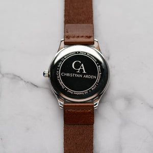 New Christyan Arden NYKE CA3101 - Around The World Edition - Black Dial - Brown Strap (Pria)