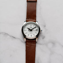 Muat gambar ke penampil Galeri, New Christyan Arden GENESIS CA3104 - Around The World Edition - White Dial - Brown Full Grain Strap (Wanita)