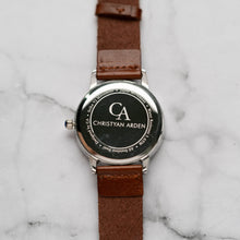 Muat gambar ke penampil Galeri, New Christyan Arden GALENA CA3216 - Around The World Edition - White Dial - Brown Full Grain Strap (Pria)