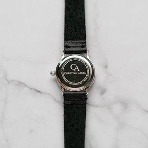 New Christyan Arden GALENA CA3216 - Around The World Edition - White Dial - Black Full Grain Strap (Wanita)