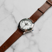 Load image into Gallery viewer, New Christyan Arden AVA CA3215 - Around The World Edition - White Dial - Brown Full Grain Strap (Wanita)