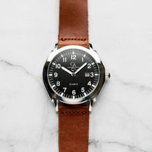 Muat gambar ke penampil Galeri, New Christyan Arden TITAN CA-0002 - Around The World Edition - Black Dial - Brown Strap (Pria)