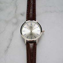 Load image into Gallery viewer, Christyan Arden LENORE CA3207 - Around The World Edition - Silver Sunburst Dial - Brown Full Grain Strap (Wanita)