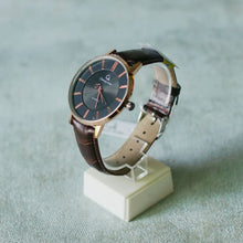 Muat gambar ke penampil Galeri, Christyan Arden Full Grain Leather CA0011 Brown - Black Dial (Pria)