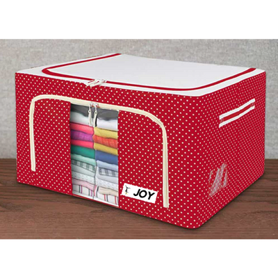 Joy® India Oxford Fabric Storage Boxes For Clothes, Sarees, Bed Sheets, Blanket Etc