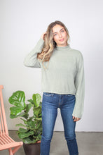 Load image into Gallery viewer, Aria Mock Neck Cropped Sweater