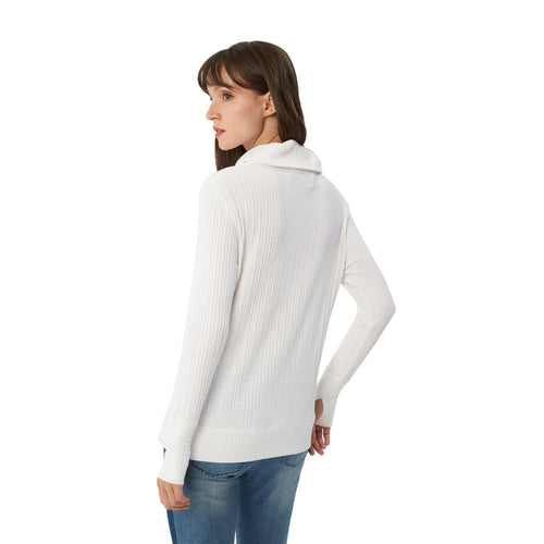Womens Long Sleeve Cowl Neck Sweater