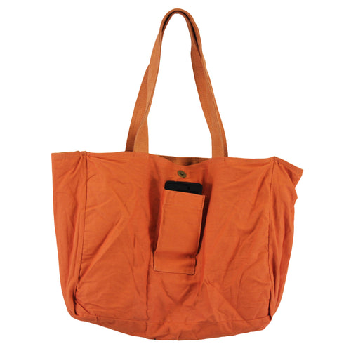Jute-Cotton Tote Bag With Side Pockets