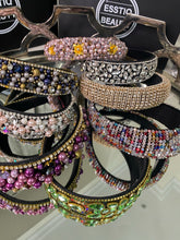 Load image into Gallery viewer, Headbands Beaded/ Pearl/ Leather/Satin/ CrystalsEmbellishments