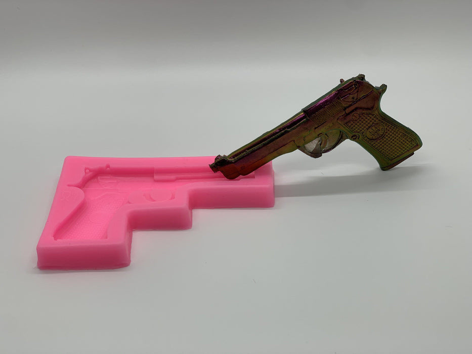 Mini Gun Silicone Mold | DIY Craft Small Gun Keychain Mold