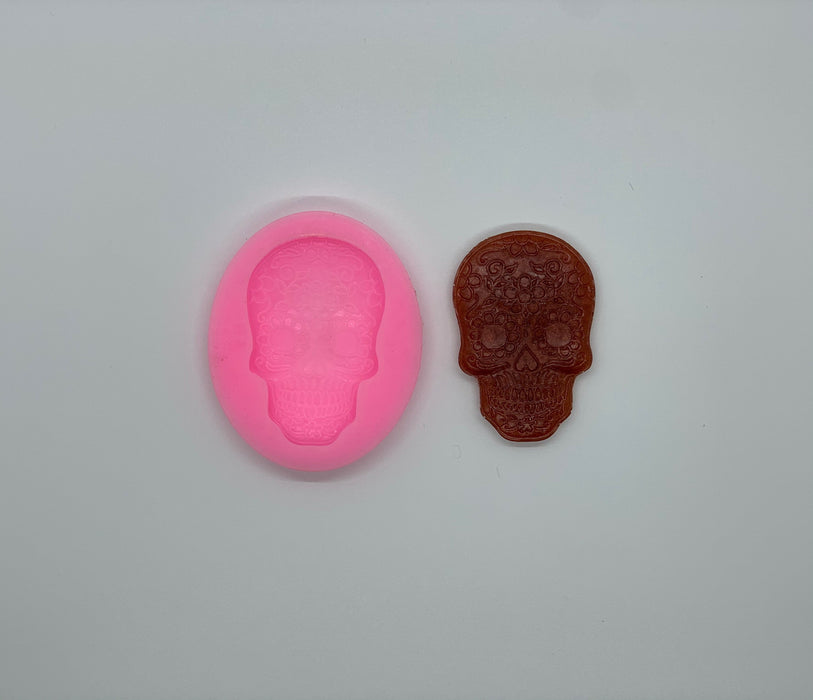 Sugar Skull Silicone Mold | Day of the Dead Mold