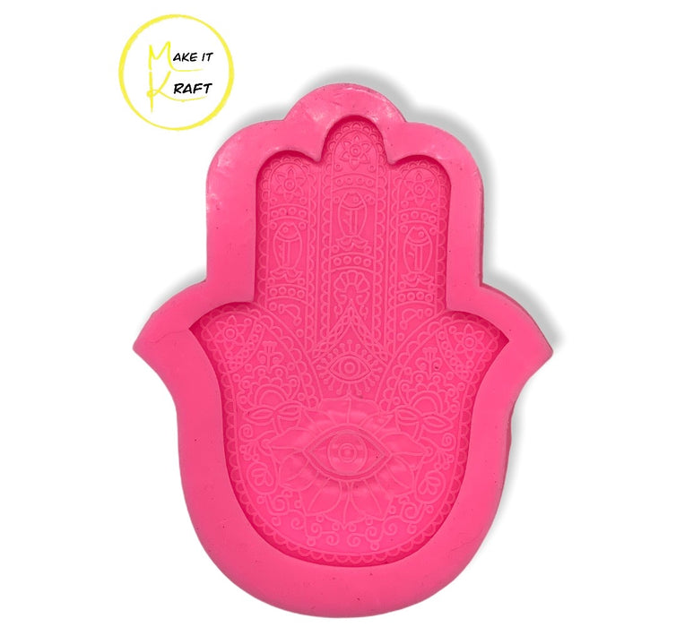 Large Hamsa Hand Silicone Mold | MakeItKraft Resin Molds for Resin Casting