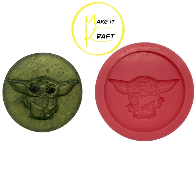 Baby Alien 3D Print Silicone Mold for DIY Resin Casting Phone Grip Badge Reel