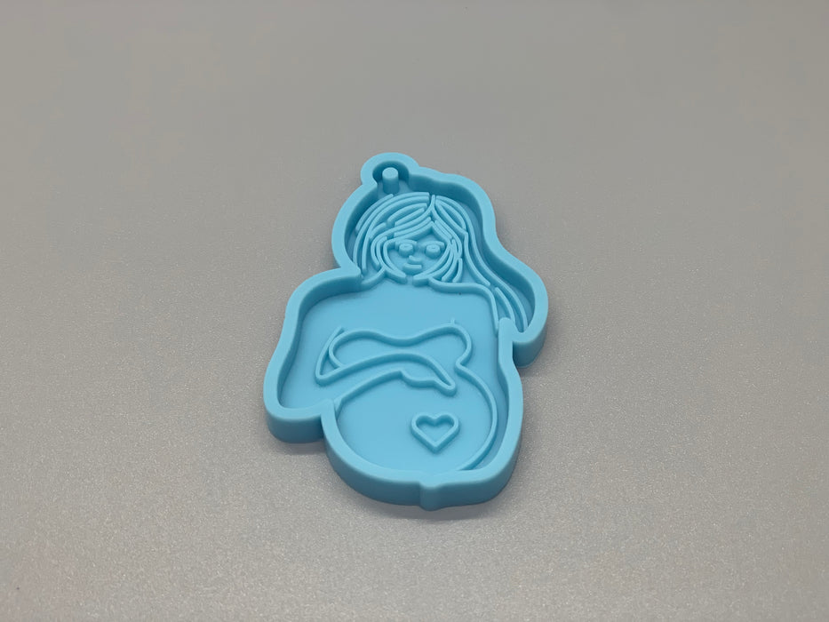 Maternity Pregnant Women Keychain Silicone Mold