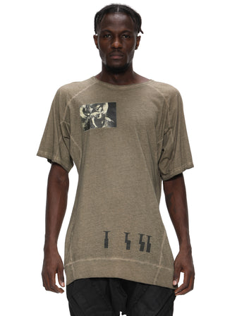 VINTAGE OLIVE DYED PRINTED T-SHIRT