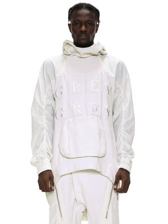 EMBROIDERED OVERSIZED HOODIE - DIRT WHITE
