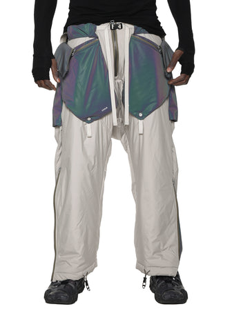 arctic aurora reflective geo panel layered quilted snow pants