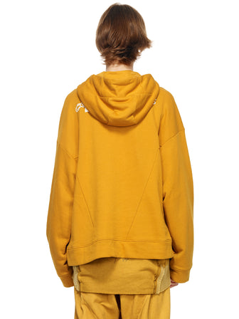 DOWN KANGAROO PATCHED HOODY - HAMCUS
