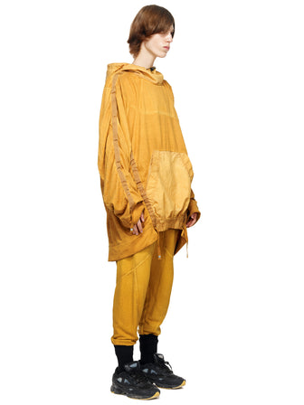 STRAPS-SNAPS ADJUSTABLE LONG HOODIE - DYED - HAMCUS