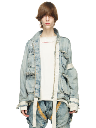 VINTAGE DENIM TRUCKER JACKET - HAMCUS